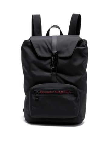 Matchesfashion.com Alexander Mcqueen - Urban Medium Carabiner-buckle Technical Backpack - Mens - Black