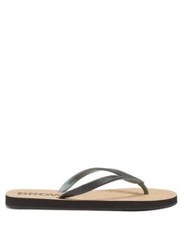 Mens Shoes Orlebar Brown - Haston Rubber Flip Flops - Mens - Brown