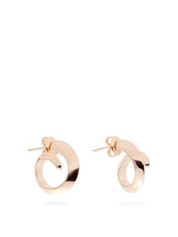Matchesfashion.com Bottega Veneta - Coiled Rose Gold-plated Sterling-silver Earrings - Womens - Rose Gold