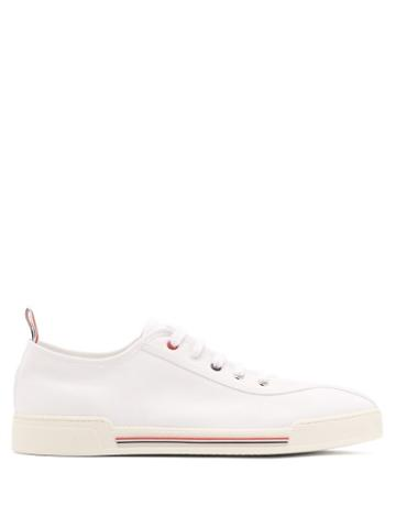 Matchesfashion.com Thom Browne - Low Top Striped Trainers - Mens - White