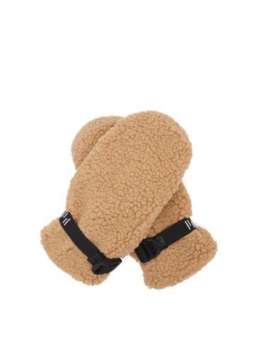 Matchesfashion.com Holden - Sherpa Faux-shearling Mittens - Womens - Camel