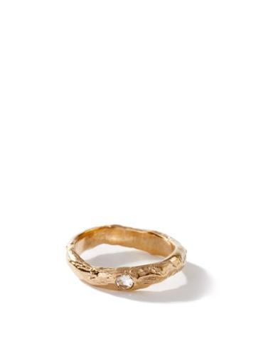 Matchesfashion.com Anita Berisha - July Birthstone & 14kt Gold-plated Ring - Womens - Red