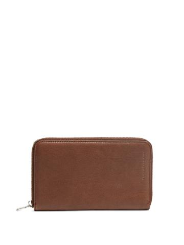 Brunello Cucinelli Zip-around Leather Travel Wallet