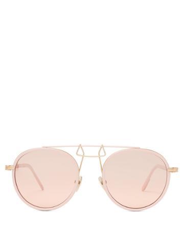 Calvin Klein 205w39nyc Aviator-frame Metal Sunglasses