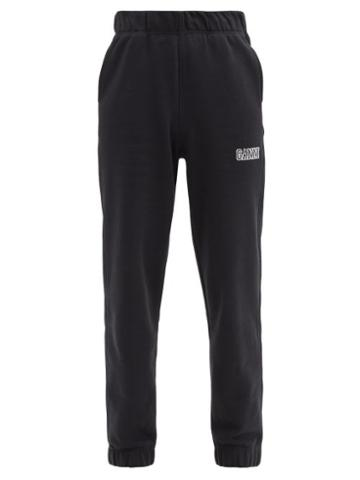 Matchesfashion.com Ganni - Software Recycled Cotton-blend Track Pants - Womens - Black