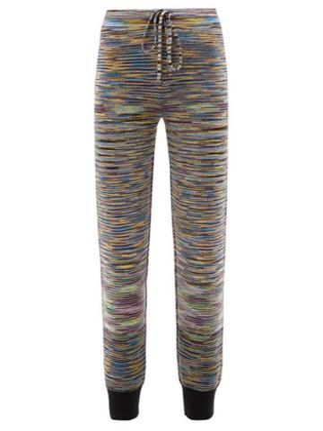 Missoni - Striped Wool-blend Knit Track Pants - Womens - Multi