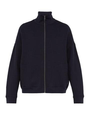 Matchesfashion.com Raey - Zip Up Japanese Jersey Track Top - Mens - Navy