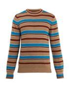 Prada Stripe Wool And Cashmere-knit Sweater