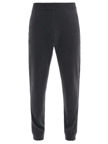 Matchesfashion.com The Row - Olivier Cashmere-jersey Track Pants - Mens - Dark Grey