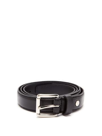 Ami Thin Leather Belt
