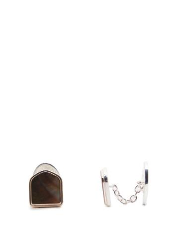 Matchesfashion.com Maison Margiela - Silver And Feather Cufflinks - Mens - Silver Multi