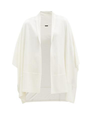 Matchesfashion.com Joseph - Wraparound Wool-blend Scarf - Womens - Ivory
