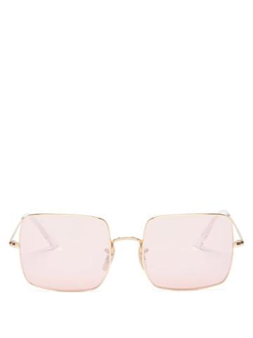 Ray-ban - Square 1971 Metal Sunglasses - Womens - Rose Gold