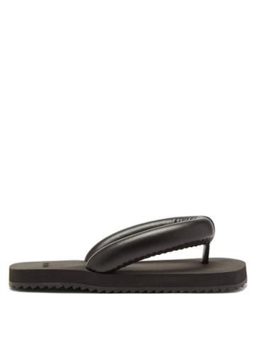 Yume Yume - Suki Faux-leather Flip Flops - Womens - Black