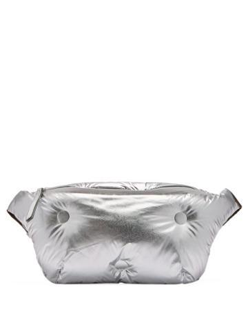 Matchesfashion.com Maison Margiela - Glam Slam Leather Belt Bag - Womens - Silver