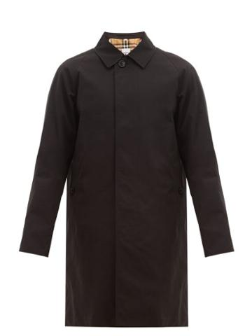 Matchesfashion.com Burberry - Camden Single Breasted Cotton Gabardine Car Coat - Mens - Black