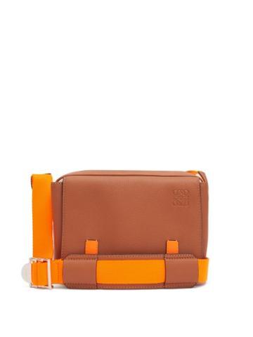 Matchesfashion.com Loewe Paula's Ibiza - Military Small Leather Messenger Bag - Mens - Brown
