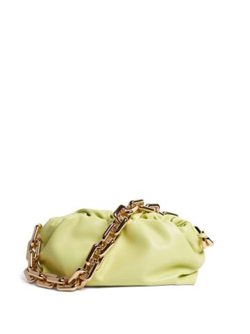 Matchesfashion.com Bottega Veneta - The Chain Pouch Leather Shoulder Bag - Womens - Light Green