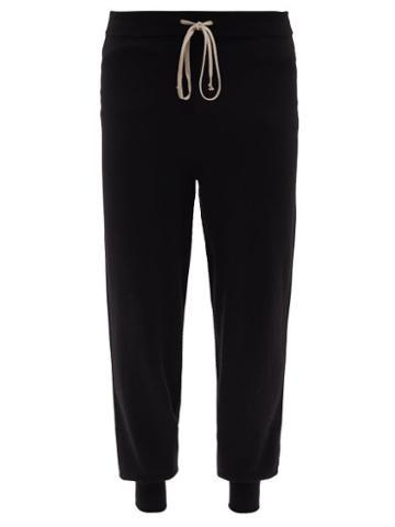 Rick Owens - Drawstring-waist Wool-blend Track Pants - Mens - Black