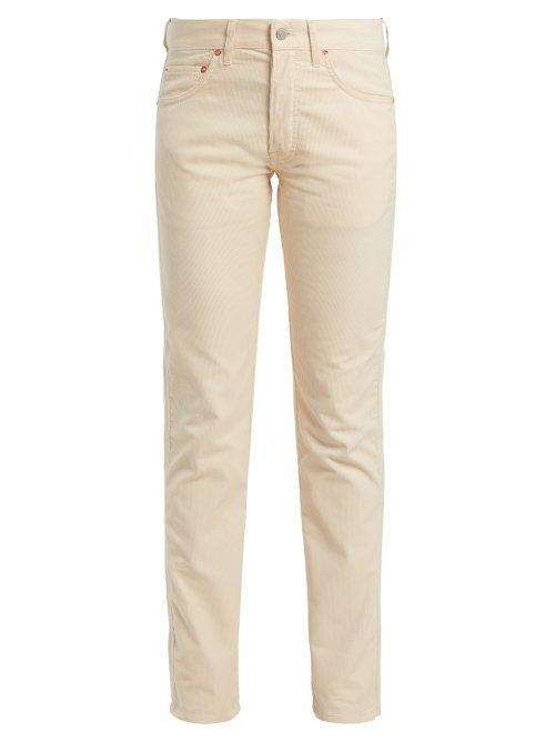 Matchesfashion.com Holiday Boileau - Slim Fit Cotton Corduroy Trousers - Womens - Cream