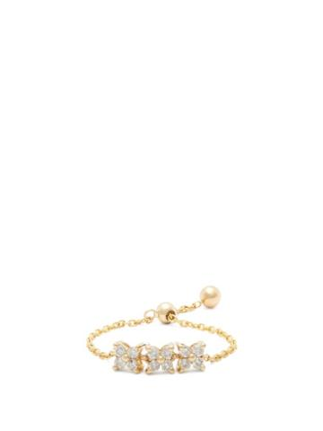 Matchesfashion.com Anissa Kermiche - Bront Diamond & Gold Chain Ring - Womens - Yellow Gold