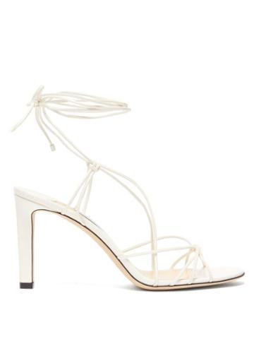 Matchesfashion.com Jimmy Choo - Tao 85 Wrap Around Leather Sandals - Womens - Cream
