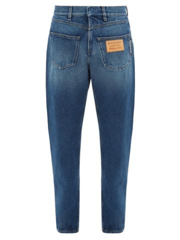 Matchesfashion.com Burberry - Back To Front Straight Leg Jeans - Mens - Blue
