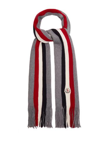 Moncler Striped Wool Scarf