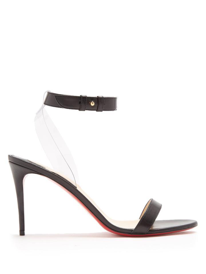 promo code 64036 ab20d Christian Louboutin Jonatina 85mm Leather Sandals | LookMazing