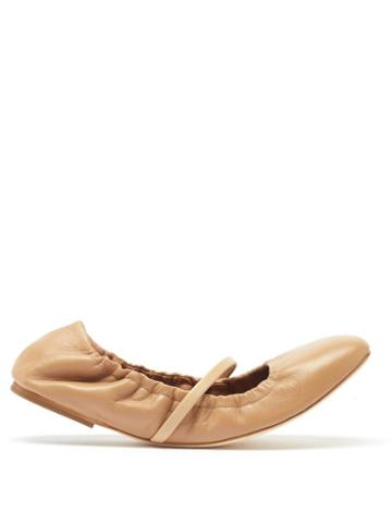 Malone Souliers - Cher Leather Ballet Flats - Womens - Tan