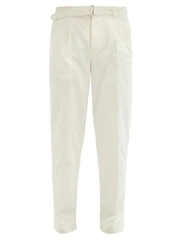 Matchesfashion.com Officine Gnrale - Luigi Cotton-corduroy Trousers - Mens - Cream
