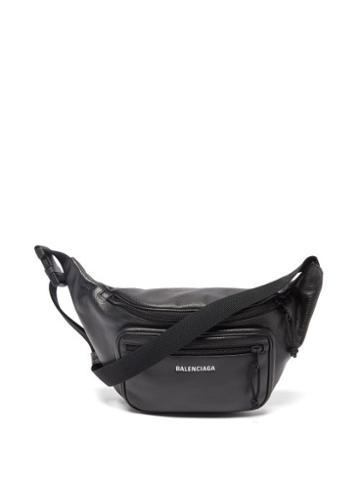Balenciaga - Explorer Logo-print Leather Cross-body Bag - Mens - Black White