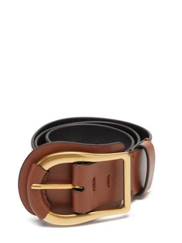 Matchesfashion.com Zimmermann - Horseshoe-buckle Leather Belt - Womens - Brown