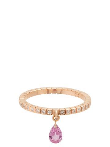 Diane Kordas Diamond, Sapphire & Rose-gold Ring