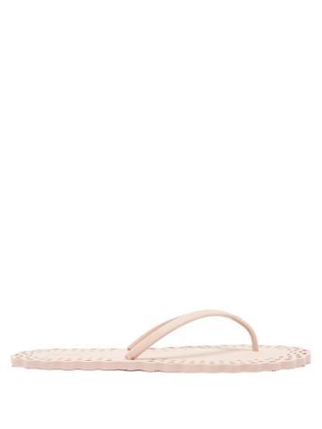 Matchesfashion.com Carlotha Ray - Doily Lasercut Scented-rubber Flip Flops - Womens - Pink