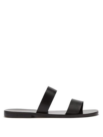 Matchesfashion.com Lvaro - Alex Leather Sandals - Mens - Black