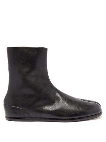 Matchesfashion.com Maison Margiela - Tabi Split-toe Leather Boots - Mens - Black