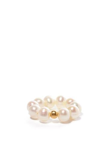 Matchesfashion.com Anita Berisha - She Is Kind Pearl & 14kt Gold-plated Ring - Womens - Pearl
