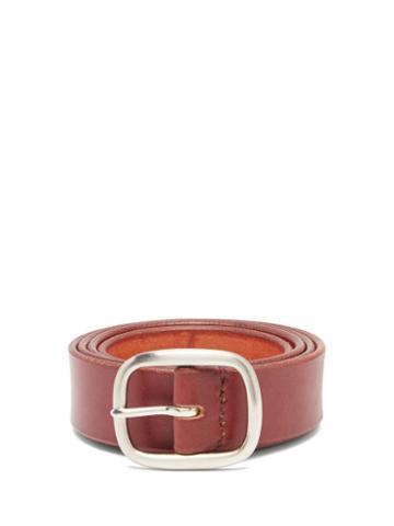 Matchesfashion.com Maximum Henry - Leather Belt - Mens - Burgundy