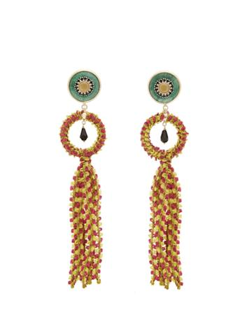 Etro Crystal-embellished Tassel-drop Earrings