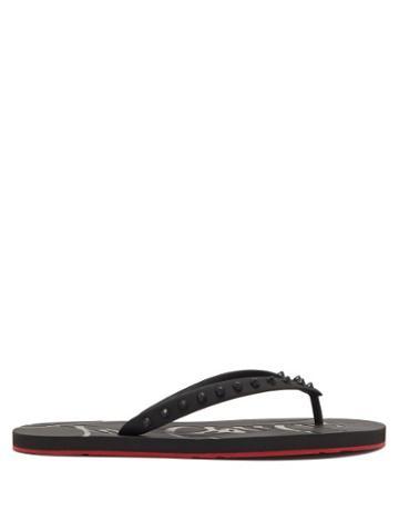 Mens Shoes Christian Louboutin - Loubi Spike-embellished Pvc Flip Flops - Mens - Black