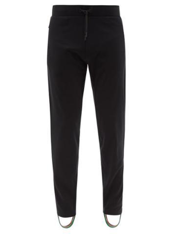 Matchesfashion.com Iffley Road - Royston Jersey Stirrup Track Pants - Mens - Black