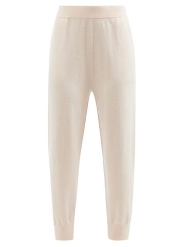 Extreme Cashmere - No.56 Yogi Stretch-cashmere Track Pants - Womens - Light Pink