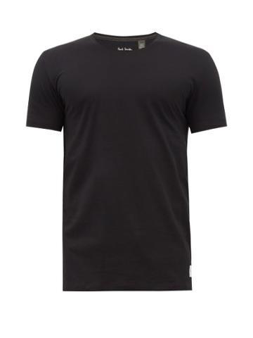 Matchesfashion.com Paul Smith - Overlocked Cotton Jersey T Shirt - Mens - Black