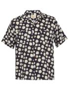 Matchesfashion.com Holiday Boileau - Floral Printed Poplin Shirt - Mens - Navy