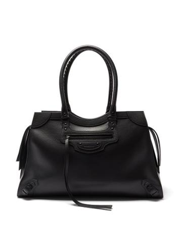 Balenciaga - Neo Classic City Large Grained-leather Bag - Mens - Black