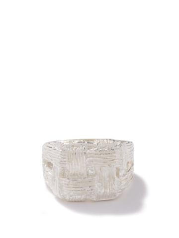 Bleue Burnham - Pastry Pudding Recycled Sterling-silver Ring - Mens - Silver