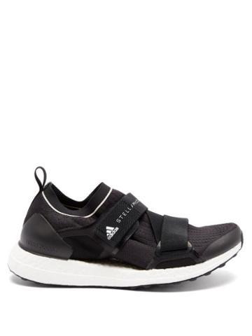 Matchesfashion.com Adidas By Stella Mccartney - Ultraboost X Velcro-strap Running Trainers - Womens - Black White