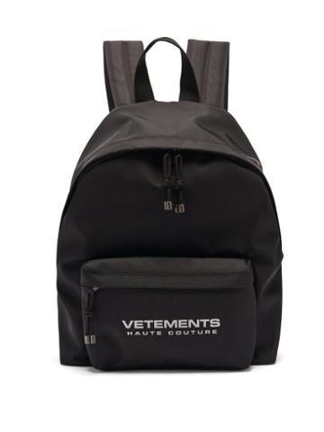 Matchesfashion.com Vetements - Reflector Haute Couture-print Nylon Backpack - Mens - Black