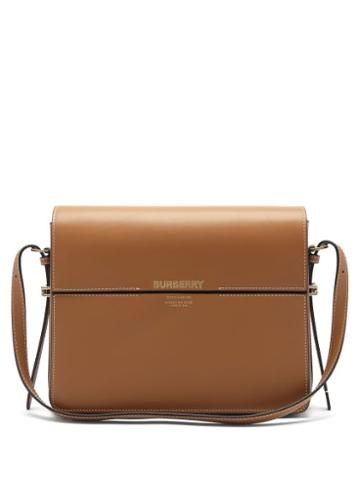 Matchesfashion.com Burberry - Grace Large Leather Shoulder Bag - Womens - Light Tan